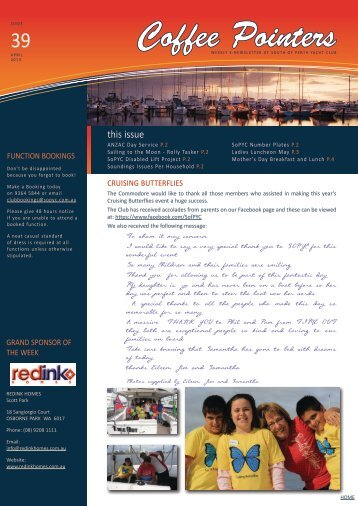 Tuesday 16 April - South of Perth Yacht Club