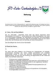 Satzung - Sportverein SV Eiche Ostrhauderfehn