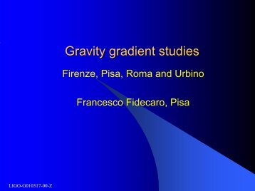 Gravity gradient studies - LIGO