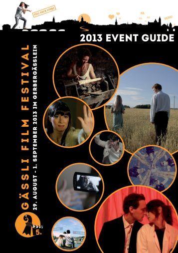 Download unseres Festival-Guides 2013 - Gässli Film Festival