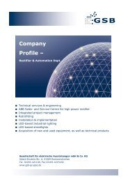 Company Profile – - GSB mbH & Co. KG