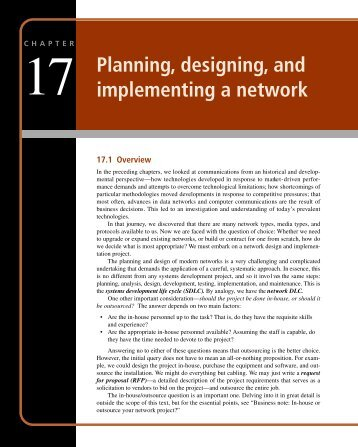 1 7 Planning, designing, and implementing a ... - USHE Production