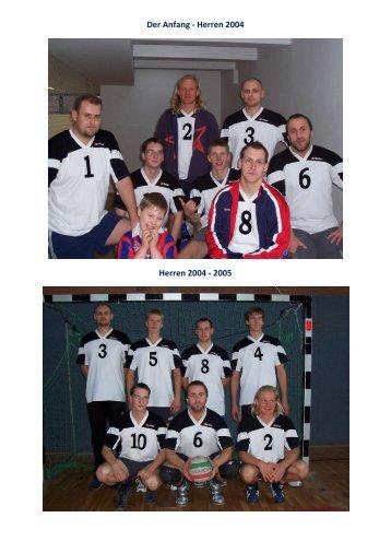Der Anfang - Herren 2004 Herren 2004 - 2005 - SV Einheit Schwerin