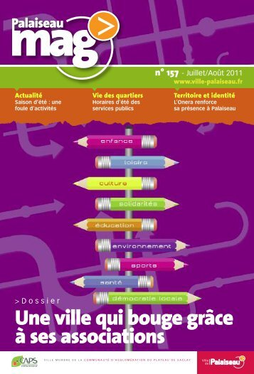 Palaiseau mag' n°157 - Juillet-août 2011 - Ville de Palaiseau
