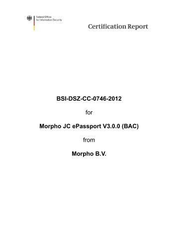 Certification Report BSI-DSZ-CC-0746-2012 - Bundesamt für ...