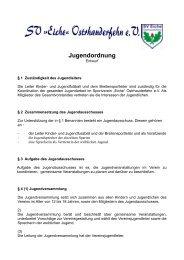 Jugendordnung - Sportverein SV Eiche Ostrhauderfehn