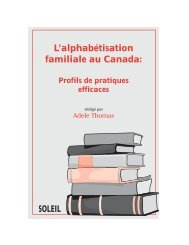 L'alphabétisation familiale au Canada: - Base de données en ...