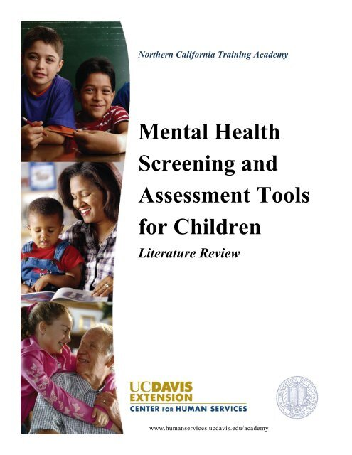 Mental Health Screening And Assessment Tools For Children