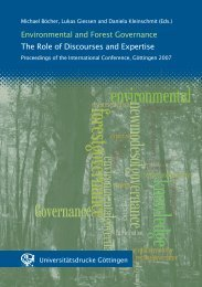 Environmental and Forest Governance: The Role of Discourses and ...