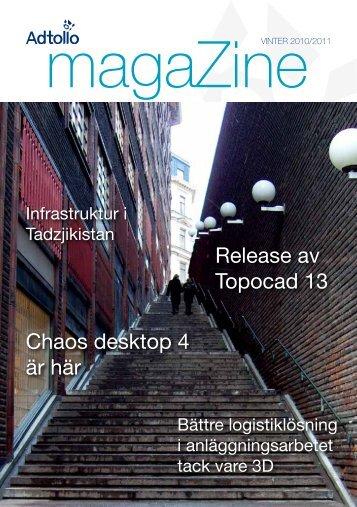 Chaos desktop 4 är här Release av Topocad 13 - Adtollo