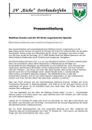SV - Sportverein SV Eiche Ostrhauderfehn