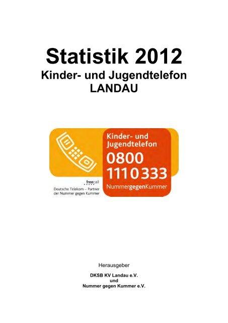 Statistik 2012 Kinder- und Jugendtelefon LANDAU - Deutscher ...