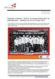 weekend van 23 en 24 april 2011 - Provincie West-Vlaanderen