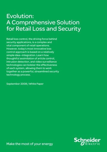 Evolution: A Comprehensive Solution for Retail ... - Schneider Electric