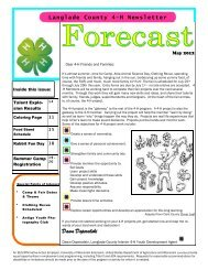 Dear 4-H Friends And Families - Langlade County - University of ...