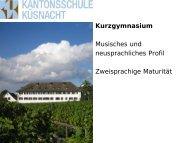 Kurzgymnasium - Kantonsschule Küsnacht
