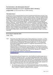 Protokoll Sept 2010 - Deutsch am Arbeitsplatz