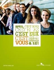 Lire le rapport d'activité 2009 - April
