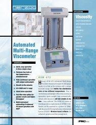 Automated Multi-Range Viscometer