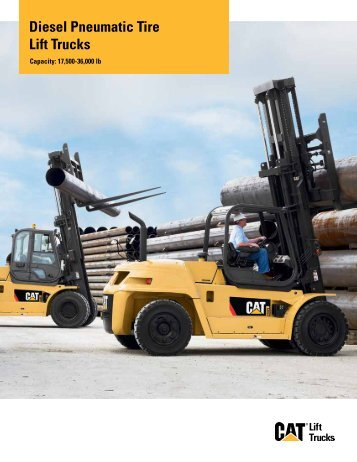 Diesel Pneumatic Tire Lift Trucks - Cat Lift Trucks