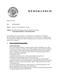 M E M O R A N D U M - Workers' Compensation Board