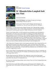 SC Rhauderfehn-Langholt holt den Titel - Sportverein SV Eiche ...