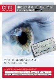 Programm Swiss CRM Forum 2012 (PDF) - Ambit AG