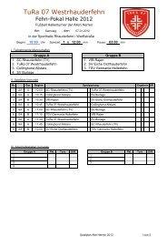 Spielplan Alte Herren 2012 - Sportverein SV Eiche Ostrhauderfehn