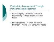 Productivity Improvement Through Performance Management