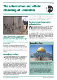 The colonisation and ethnic cleansing of Jerusalem - Palestine ...
