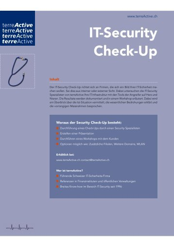 IT-Security Check-Up - terreActive AG