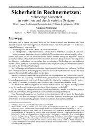 Sicherheit in Rechnernetzen: - Professur Datenschutz und ...