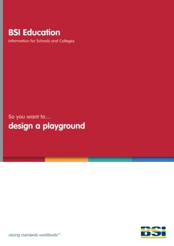 So you want to design a playground - BSI Education