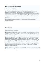 Orde van de Zonnetempel Luc Jouret - dewoesteweg.nl