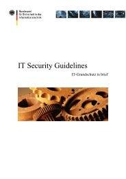 IT Security Guidelines (PDF) - Bundesamt für Sicherheit in der ...