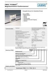 PMIS2 POSIMAG Magnetoresistiver Positionssensor - ASM GmbH