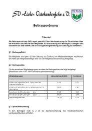 Beitragsordnung - Sportverein SV Eiche Ostrhauderfehn
