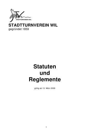 Statuten und Reglemente - StadtTurnVerein Wil
