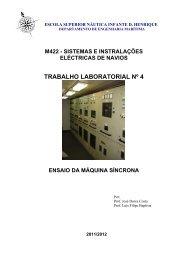 trabalho laboratorial nº 4 - Escola Superior Náutica Infante D ...