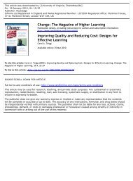 Improving Quality and Reducing Cost: Designs for Effective Learning