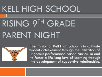Kell High School Rising 9th Grade Parent Night - Cobb Learning