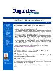 Newsletter – HK and Asia Regulatory - BSI America
