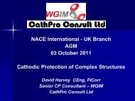 Cathodic Protection of Complex Structures David Harvey - Nacegb.org