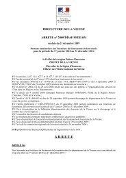 ESPECES DE GIBIER - Préfecture