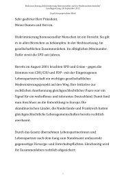 Rede zur Beendigung der Diskriminierung ... - Daniela Behrens