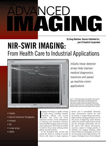 NIR-SWIR ImagINg: - Sensors Unlimited