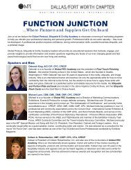 Function Junction 2013 Speakers and Topics - Meeting ...