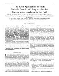 The Grid Application Toolkit: Towards Generic and Easy ... - GridLab