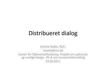 Distribueret dialog