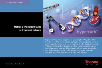 Method Development Guide for Hypercarb Columns - Cromlab